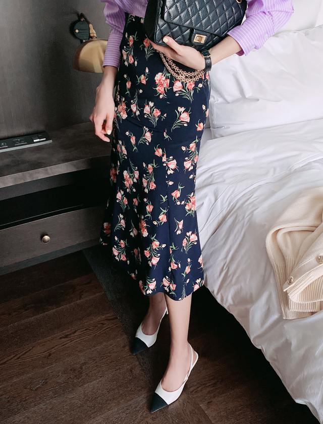 babirolen-[플라워 머메이드-sk]♡韓國女裝裙