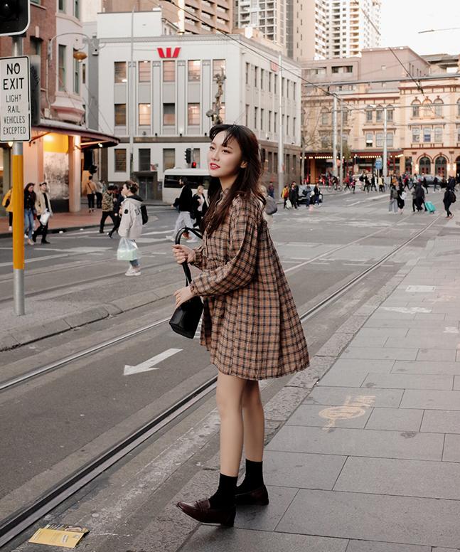 sonyunara-메들리체크원피스♡韓國女裝連身裙