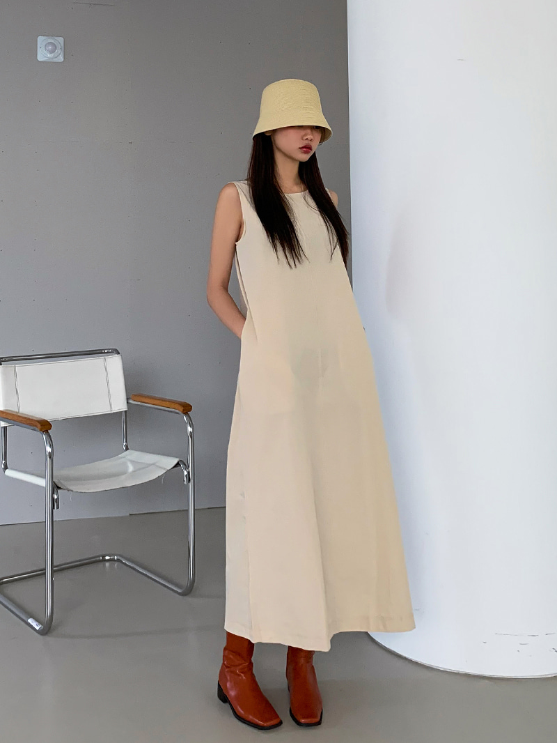 crazygirls-스티치백리본롱원피스-ops♡韓國女裝連身裙