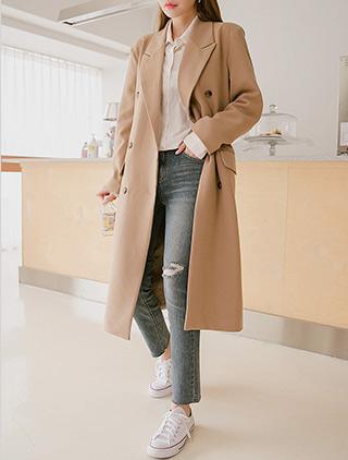 jstyleshop-[덴비렌 테일러드 더블 코트]♡韓國女裝外套