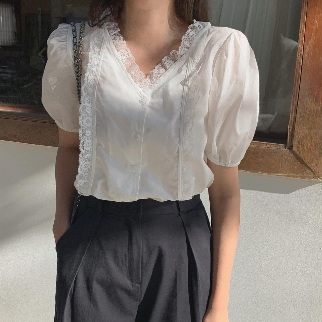 cherrykoko-[이브 레이스 블라우스]♡韓國女裝上衣