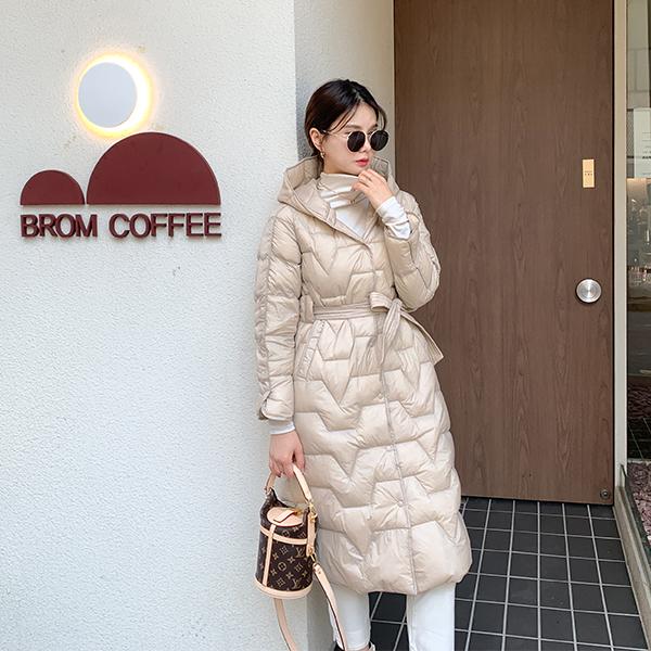 canmart-[벨트후드롱패딩 C101511]♡韓國女裝外套