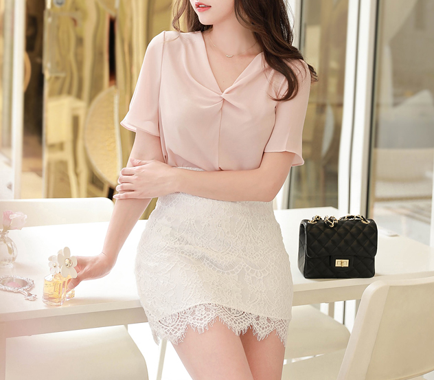 myfiona-크로스셔링*blouse/m8541 - 로맨틱 러블리 피오나♡韓國女裝上衣