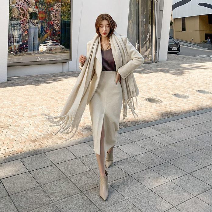 dabagirl-소이라인울스커트♡韓國女裝裙