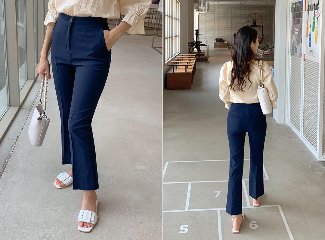 i-arden-[모나코 부츠컷슬랙스 (4color)]♡韓國女裝褲