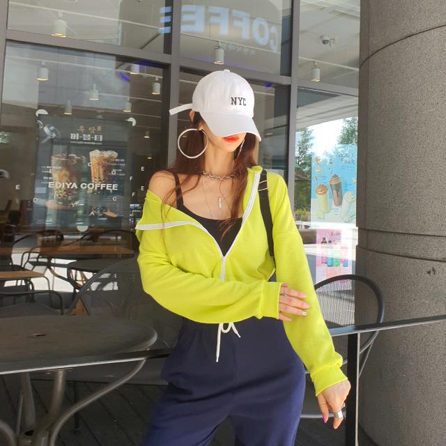 iampretty-[[2177]푸룻 스트링 숏집업]♡韓國女裝外套