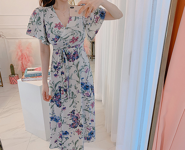marlangrouge-주니플라워롱랩 OPS♡韓國女裝連身裙