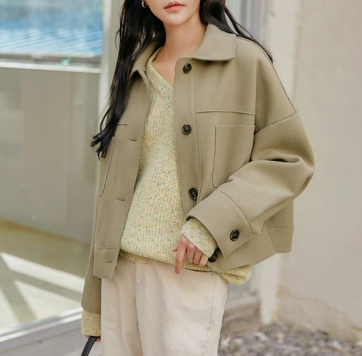 common-unique--모데인 포켓 카라 자켓♡韓國女裝外套