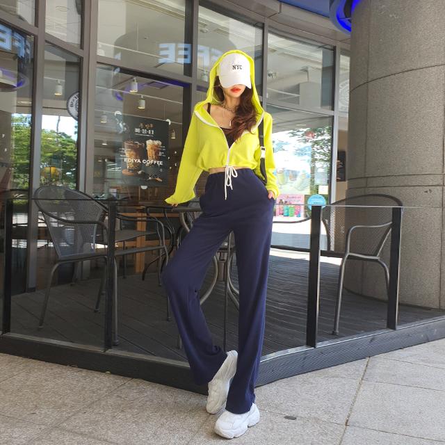 iampretty-[[3113]데일리 밴딩 트레이닝팬츠]♡韓國女裝褲