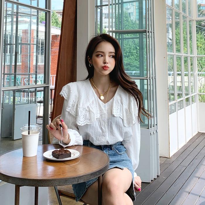 deepny-뉴프릴카라블라우스 디프니♡韓國女裝上衣