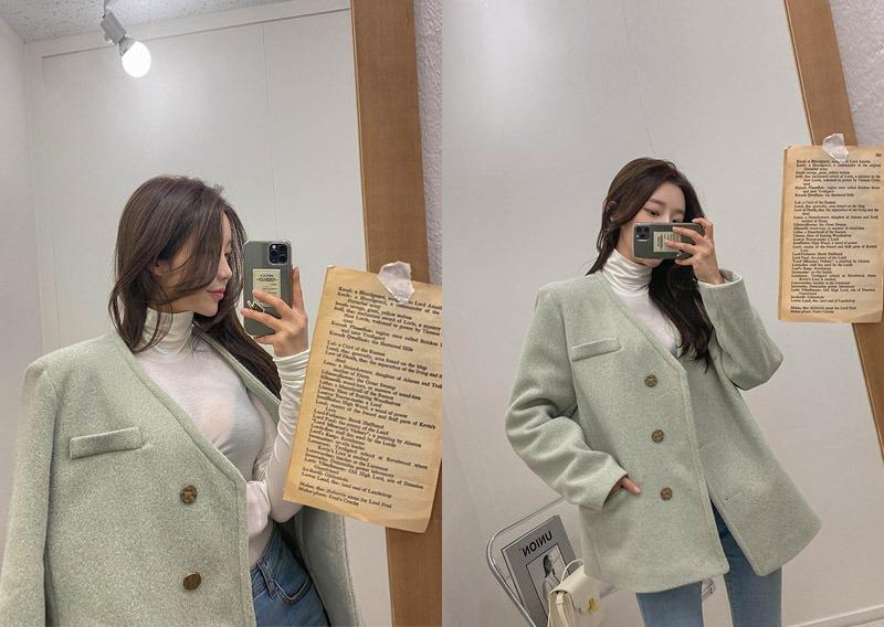 maybins-파툴 노카라 자켓♡韓國女裝外套