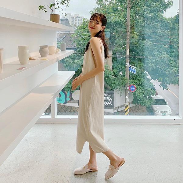 906studio-그랜드 뷔스티에니트원피스 (린넨 15%)♡韓國女裝連身裙