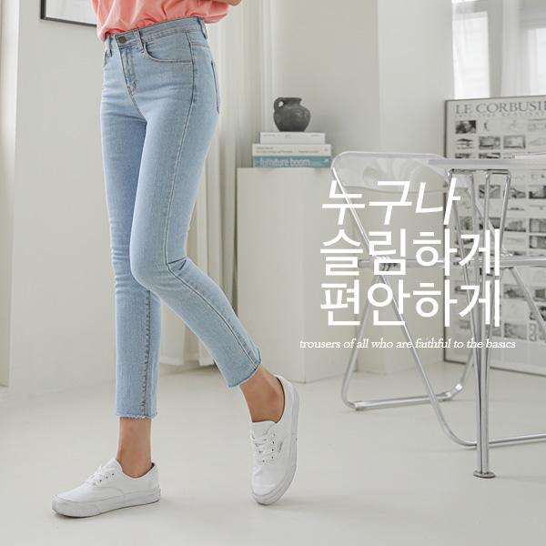 chicfox-바힐드 일자데님팬츠♡韓國女裝褲