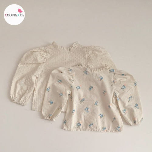 cooingkids-E나미블라우스 아기 유아 아동 여아 티셔츠♡韓國童裝上衣