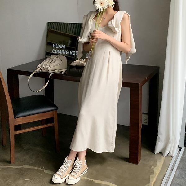 66girls-린넨크롭셔츠+슬립원피스set♡韓國女裝套裝