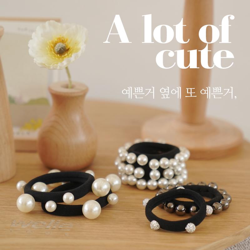 clicknfunny-[티퍼즌 진주머리끈]♡韓國女裝飾品