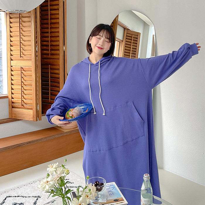 09women-[체힐 데일리 후드 롱 원피스 52687]♡韓國女裝連身裙