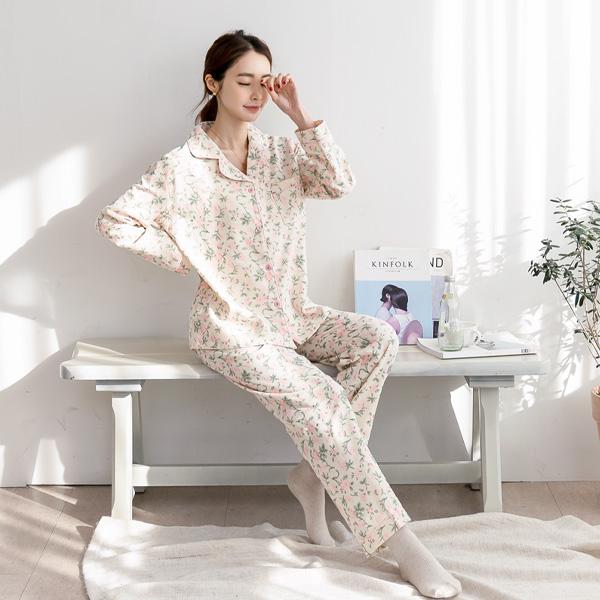 misscandy-[no.19901 배색라이닝 플라워 잠옷세트]♡韓國女裝套裝