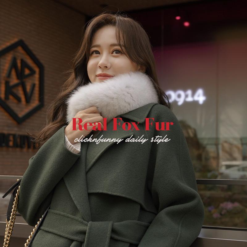 clicknfunny-[르텡 리얼폭스머플러]♡韓國女裝飾品
