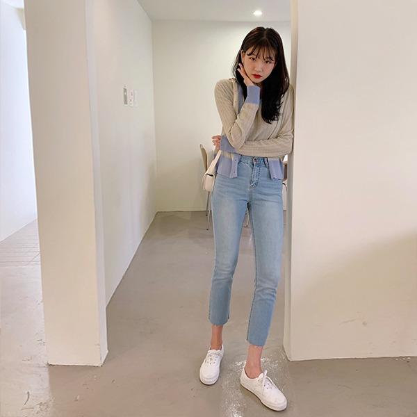 906studio-[기획특가] 컴포즈 스키니데님팬츠♡韓國女裝褲