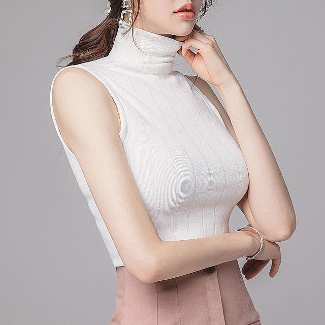 sweetglam-티이아 나시 폴라 탑♡韓國女裝上衣