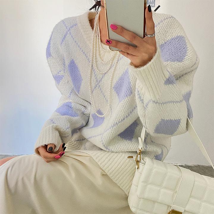 lagirl-슈가아가일니트-knit♡韓國女裝上衣
