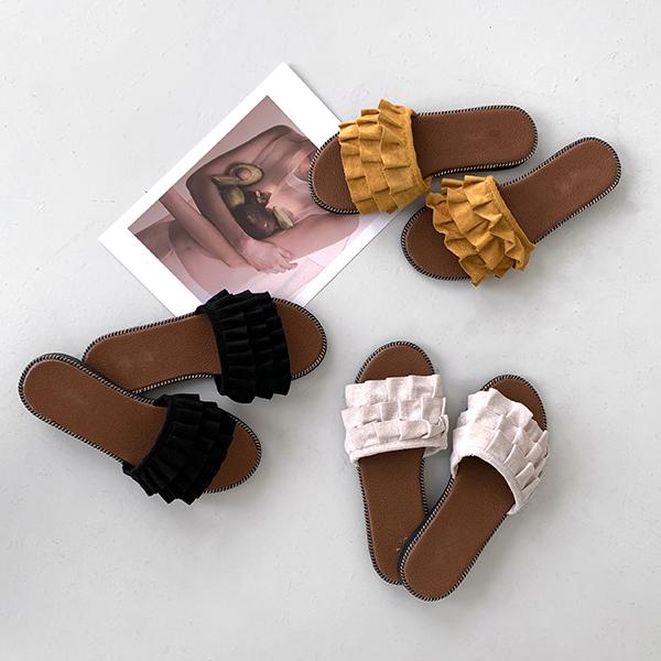 canmart-[바트프릴슬리퍼 C071350]♡韓國女裝鞋
