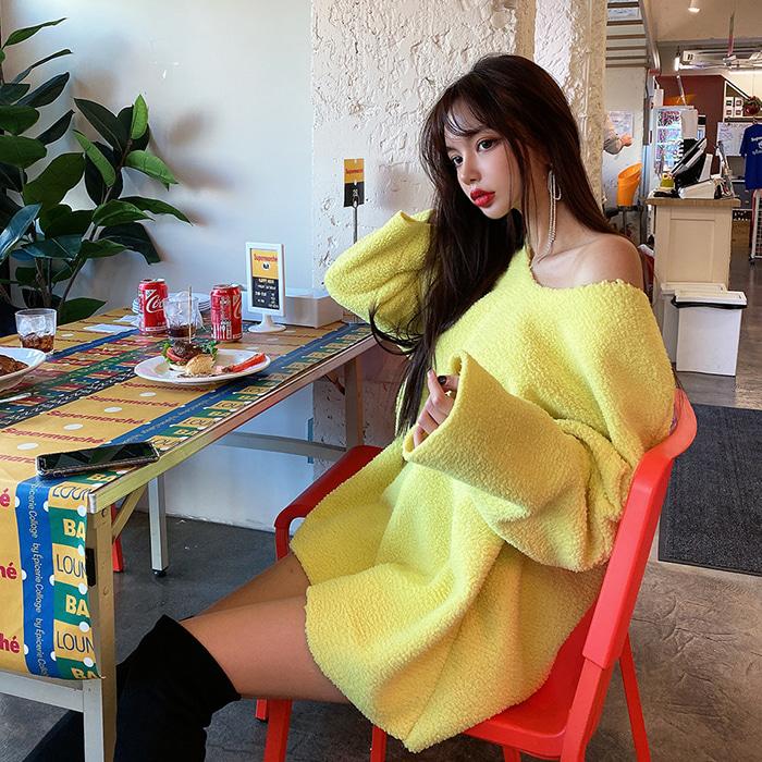 choper-뽀글이여리루즈니트♡韓國女裝上衣