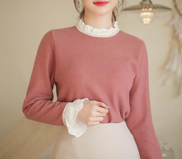 myfiona-라이크티티*knit tee/m9508 - 러블리 로맨틱룩 1위 쇼핑몰 피오나♡韓國女裝上衣