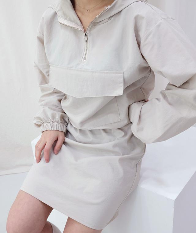 kikiko-럽미크롭아노락세트♡韓國女裝套裝