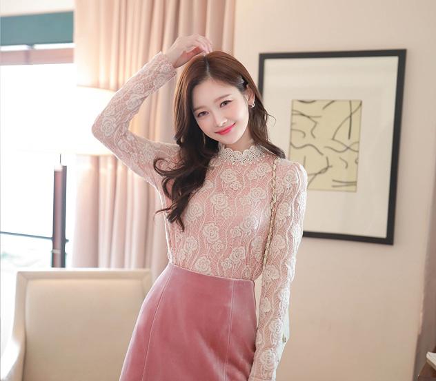 myfiona-로즈웜 로맨틱 레이스티 m7610 - 러블리 로맨틱룩 1위 쇼핑몰 피오나♡韓國女裝上衣