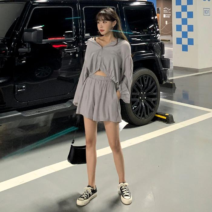 theresheis-제임드 트레이닝 SET♡韓國女裝連身裙