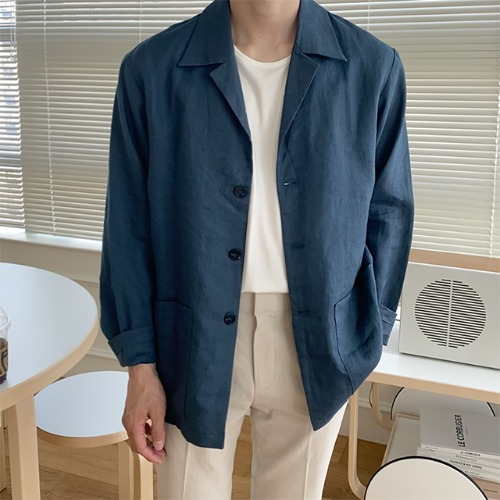 modernsweet-마로 린넨 3버튼 자켓 - 모던스윗(modernsweet)♡韓國男裝外套