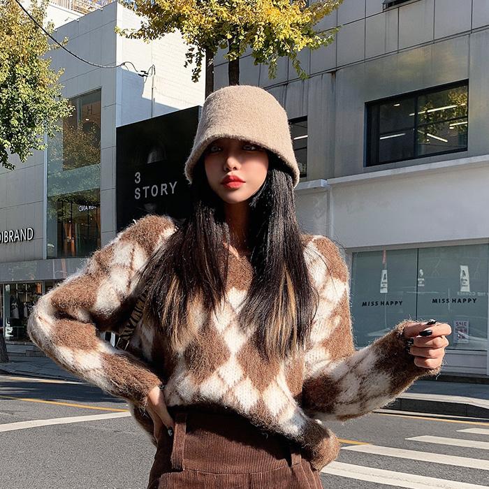 choper-도톰니트벙거지♡韓國女裝飾品