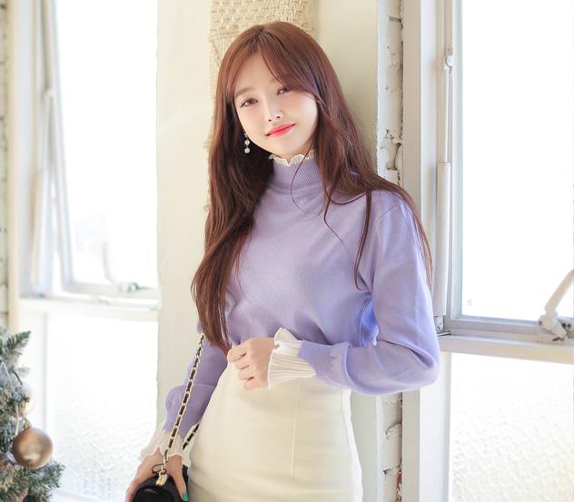 myfiona-달콤한프릴로*knit/m9475 - 러블리 로맨틱룩 1위 쇼핑몰 피오나♡韓國女裝上衣