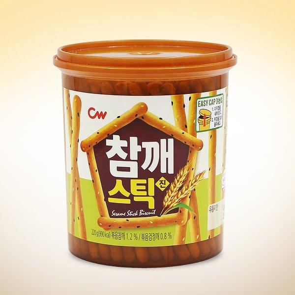 韓國 CW 芝麻餅乾棒 220g