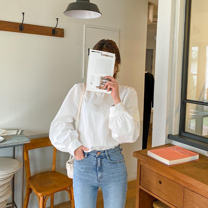 09women-[체링 퍼프 라운드 블라우스 51096]♡韓國女裝上衣