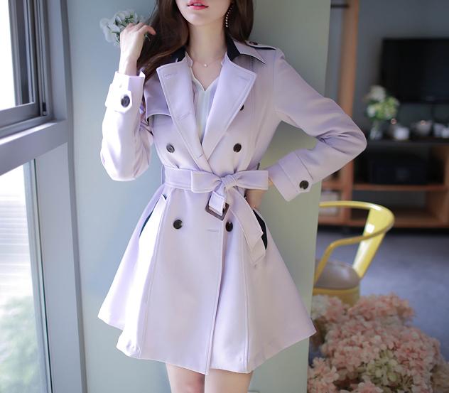 myfiona-시크배색*trench coat/m345 - 러블리 로맨틱룩 1위 쇼핑몰 피오나♡韓國女裝外套