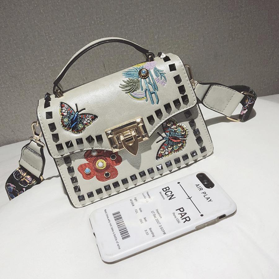 blancjo-플라워 자수 토트앤 숄더 백_ib04453♡韓國女裝袋