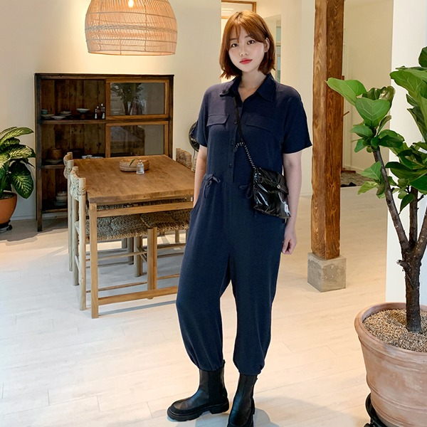 66girls-린넨스트링점프수트♡韓國女裝褲