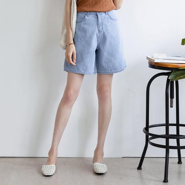 misscandy-[no.19207 소프트데님 와이드핏 3부팬츠]♡韓國女裝褲