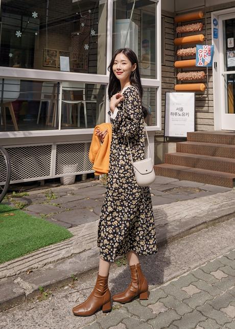 loloten-쎄렌 잔꽃쉬폰 원피스♡韓國女裝連身裙