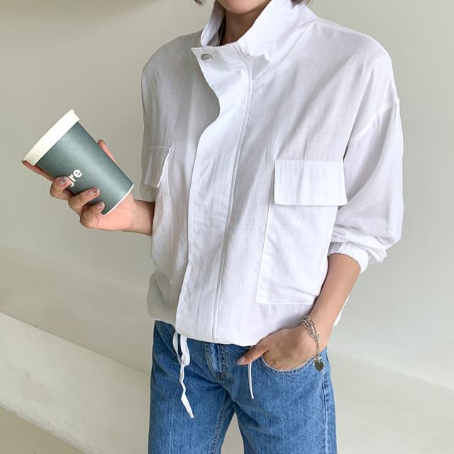 mythyella-모프 린넨 스트링 숏 자켓♡韓國女裝外套
