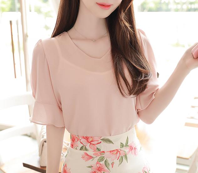 myfiona-페미닌주름진주*blouse/a0495 - 로맨틱 러블리 피오나♡韓國女裝上衣