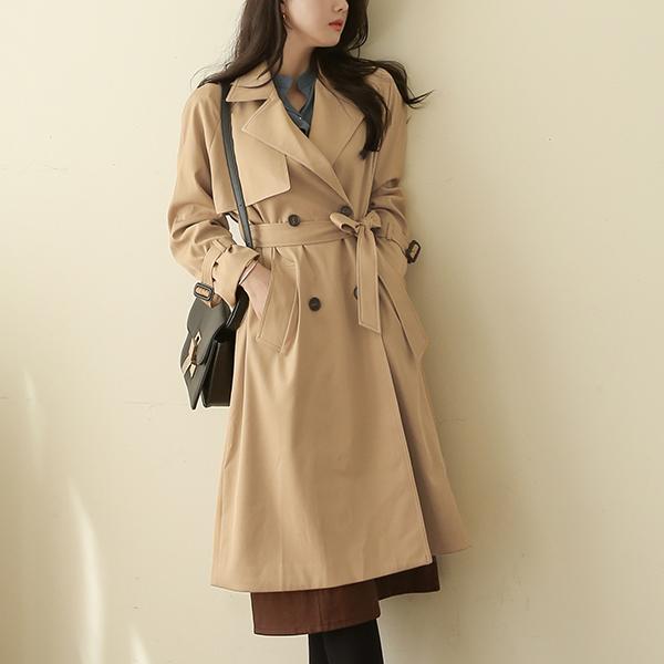 canmart-[벨유_프론트트렌치코트 MA09091]♡韓國女裝外套