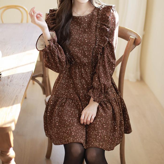 myfiona-겨울들꽃 기모원피스 a1141 - 러블리 로맨틱룩 1위 쇼핑몰 피오나♡韓國女裝連身裙