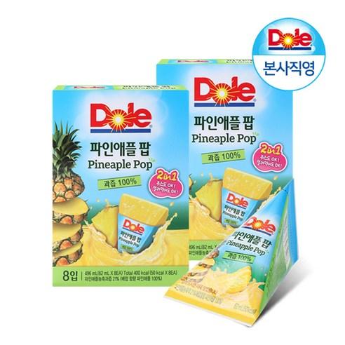 韓國 Dole IcePop 菠蘿果汁冰冰 8個裝/496g