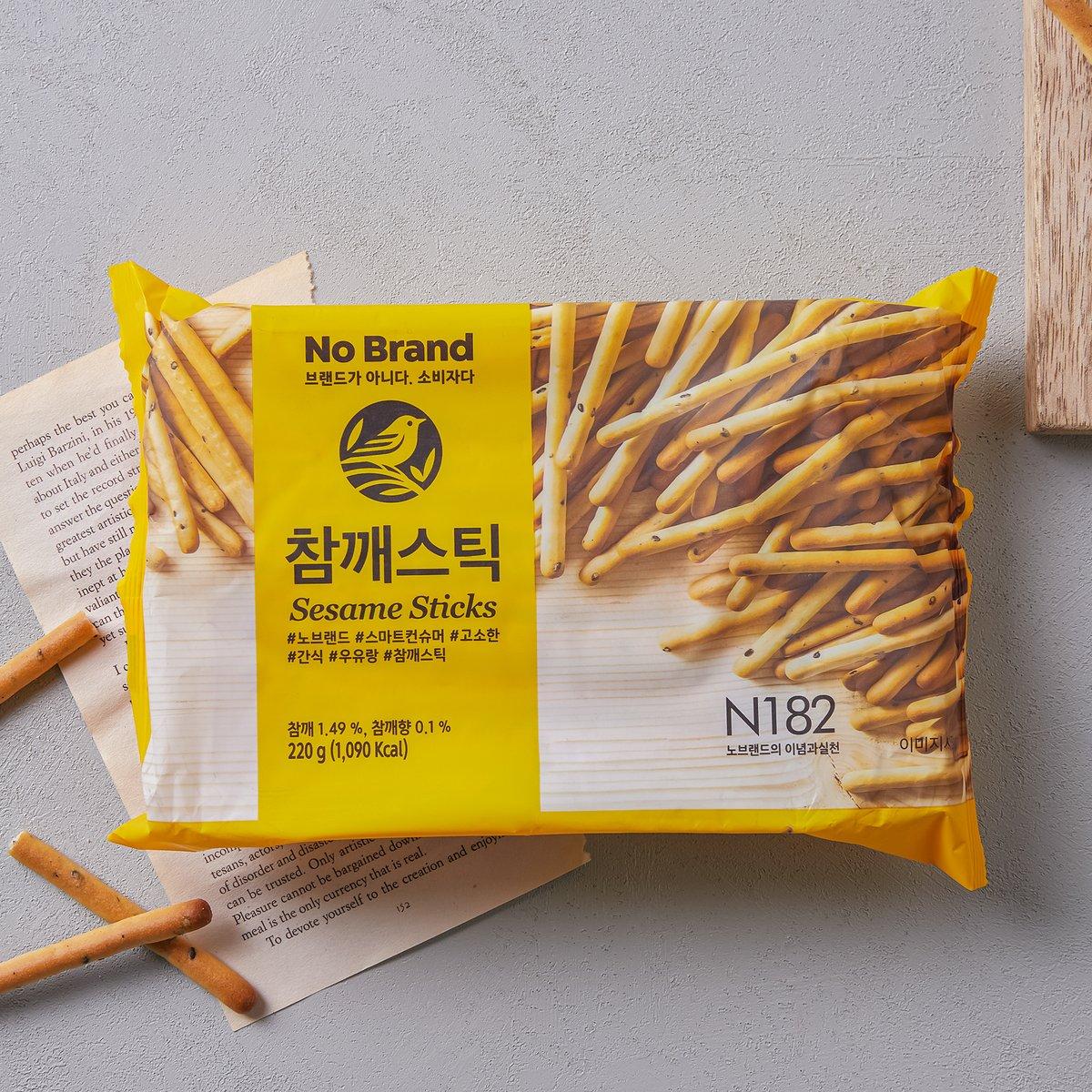 韓國 No Brand 芝麻味脆條餅乾 220g (2包優惠價)