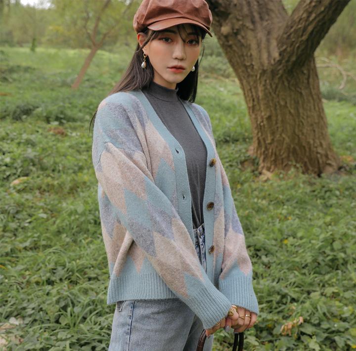 common-unique--에버 아가일 니트 가디건♡韓國女裝外套
