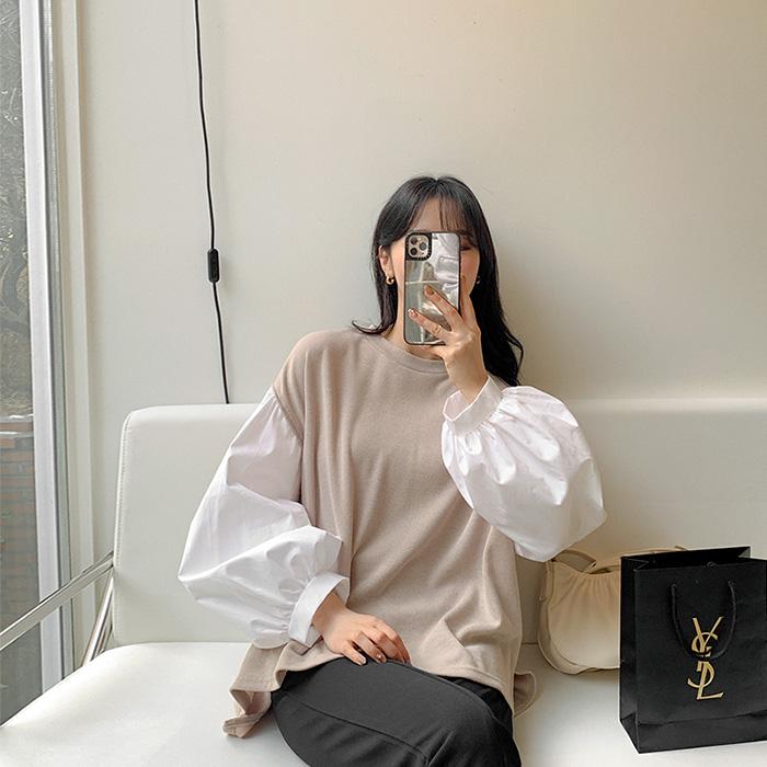 09women-[에밀렌 퍼프 소매 티셔츠 52637]♡韓國女裝上衣